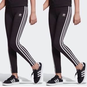 ADIDAS Leggings Classic Stretch Pants Black White